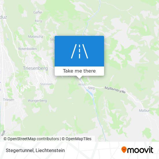 Stegertunnel map
