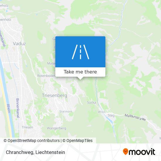 Chranchweg map