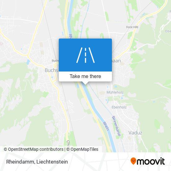 Rheindamm map