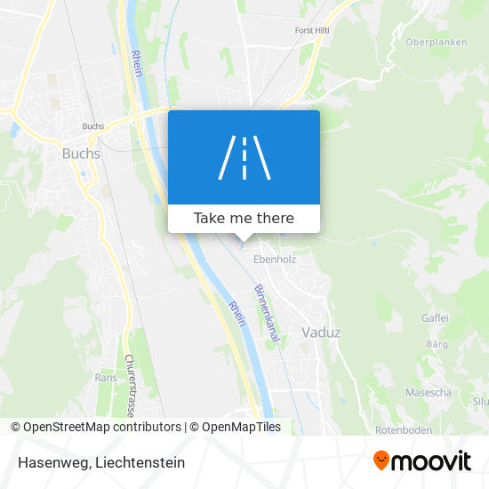 Hasenweg map