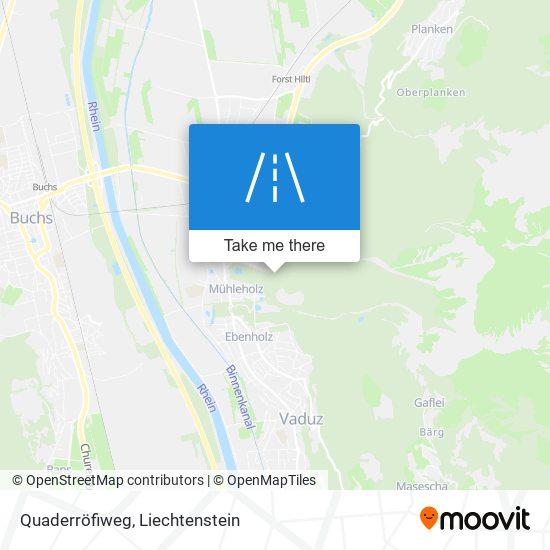 Quaderröfiweg map