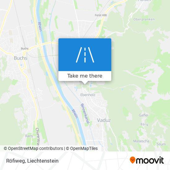 Röfiweg map