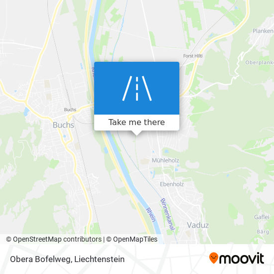 Obera Bofelweg map
