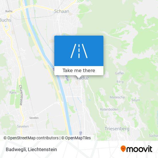Badwegli map