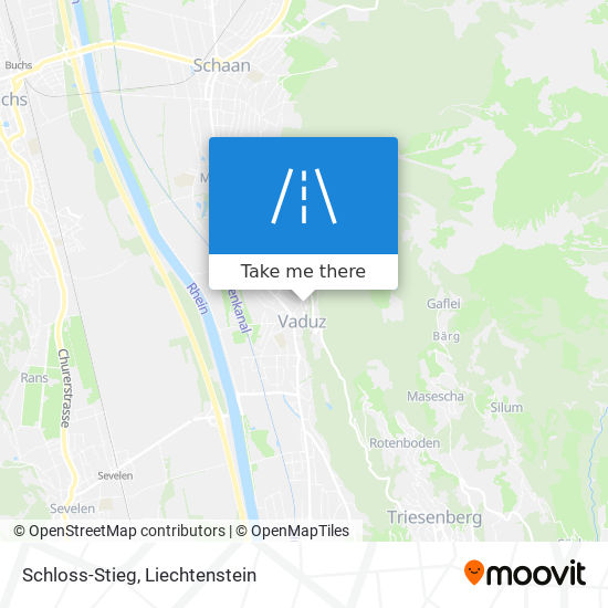 Schloss-Stieg map