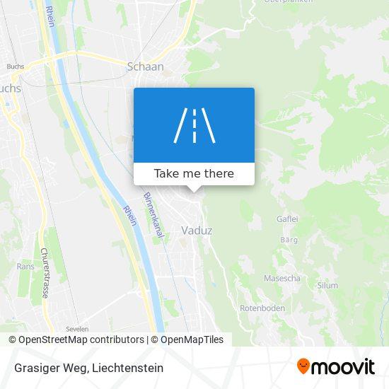 Grasiger Weg map