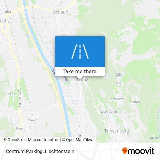 Centrum Parking map