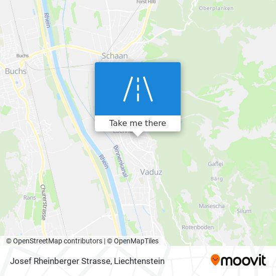 Josef Rheinberger Strasse map