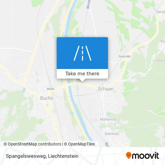Spangelswesweg map