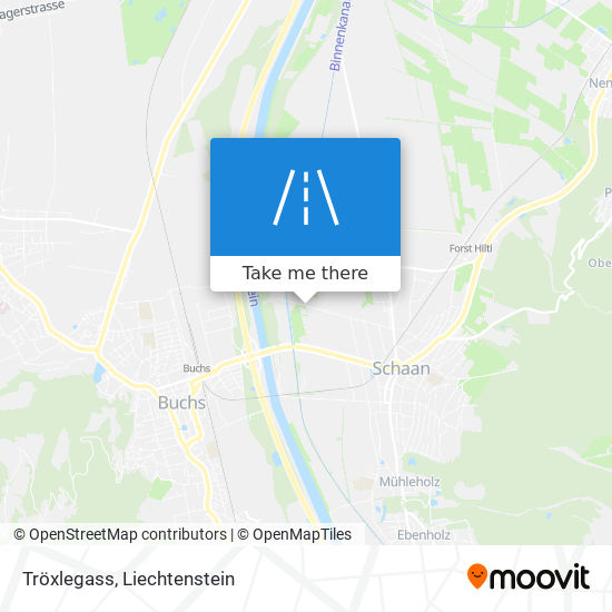 Tröxlegass map
