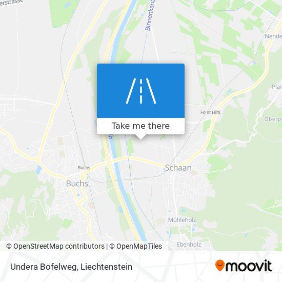 Undera Bofelweg map