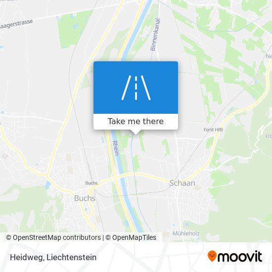 Heidweg map