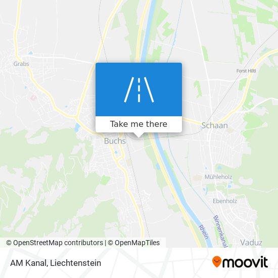 AM Kanal map
