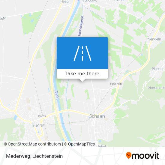 Mederweg map