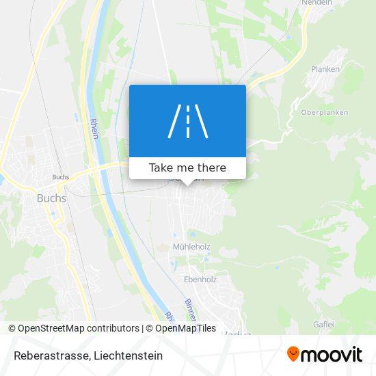 Reberastrasse map