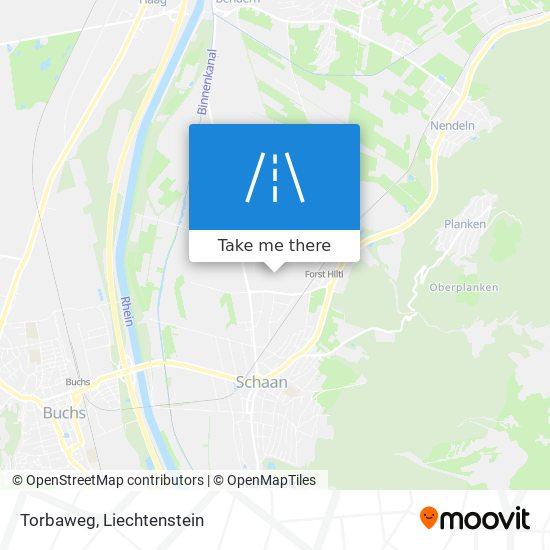 Torbaweg map