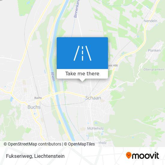 Fukseriweg map