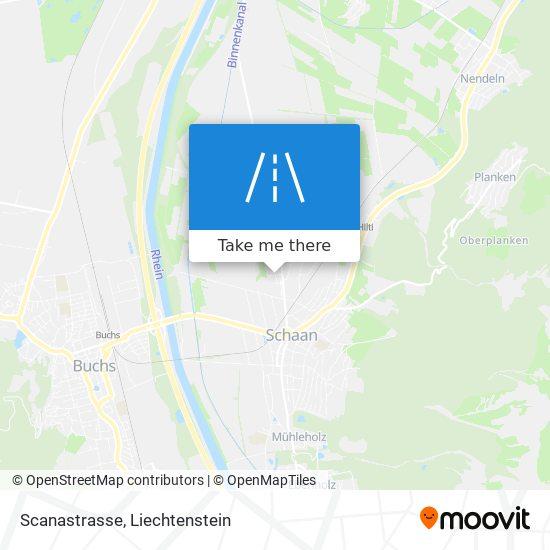 Scanastrasse map