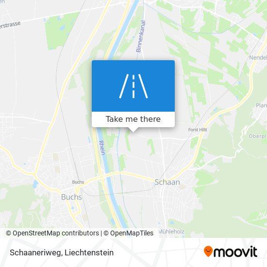 Schaaneriweg map