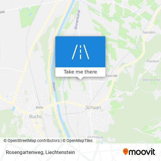 Rosengartenweg map
