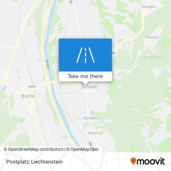 Postplatz map