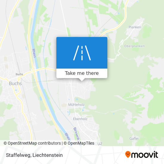 Staffelweg map