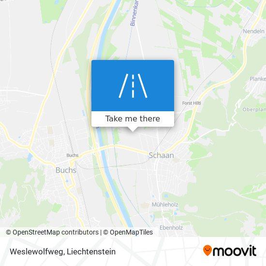 Weslewolfweg map