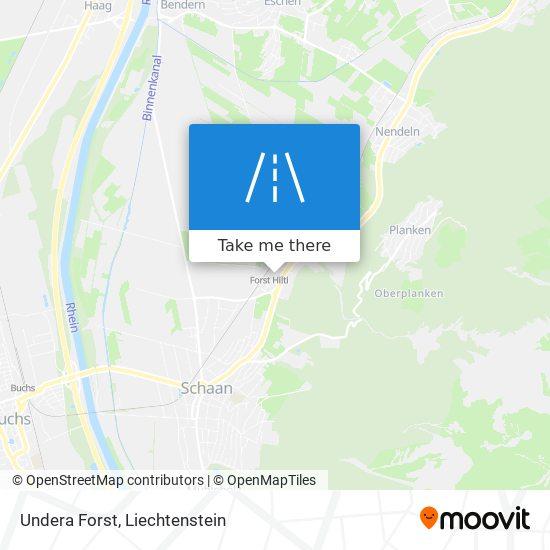 Undera Forst map