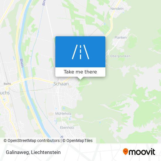 Galinaweg map