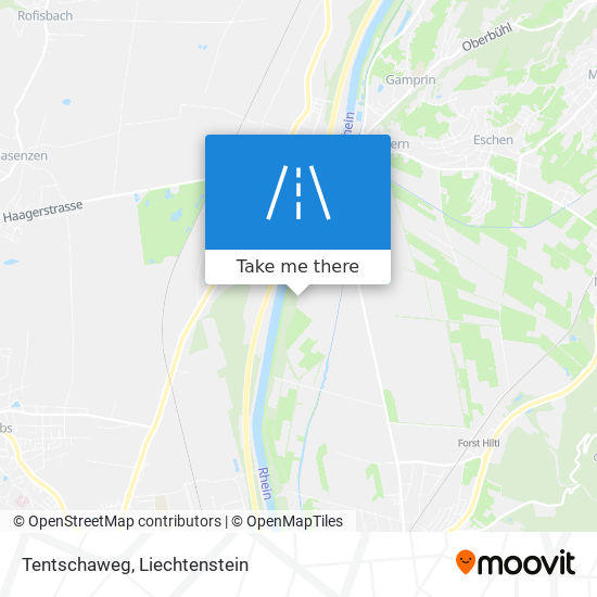 Tentschaweg map