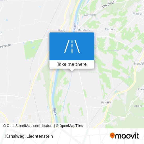 Kanalweg map