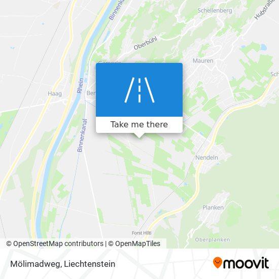 Mölimadweg map