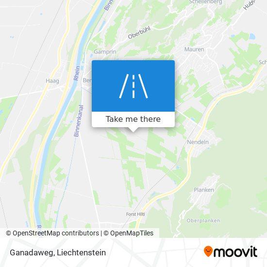 Ganadaweg map