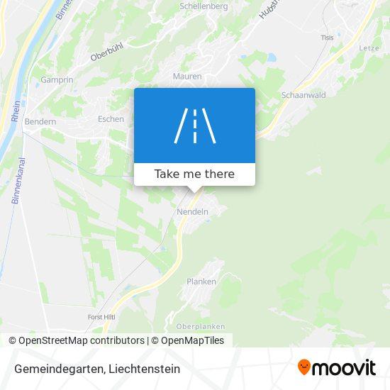 Gemeindegarten map