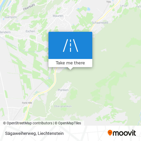 Sägaweiherweg map