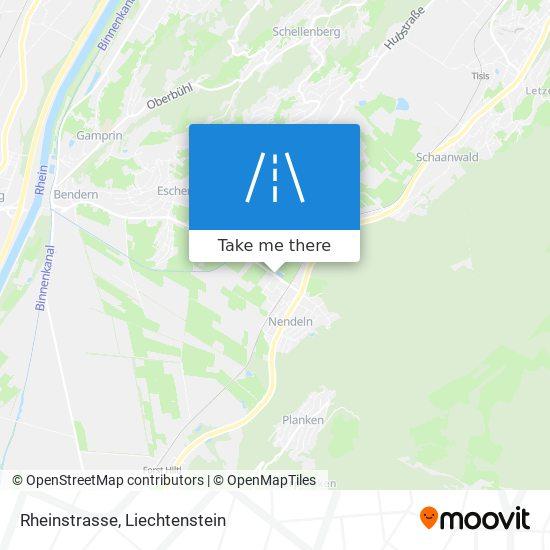 Rheinstrasse map