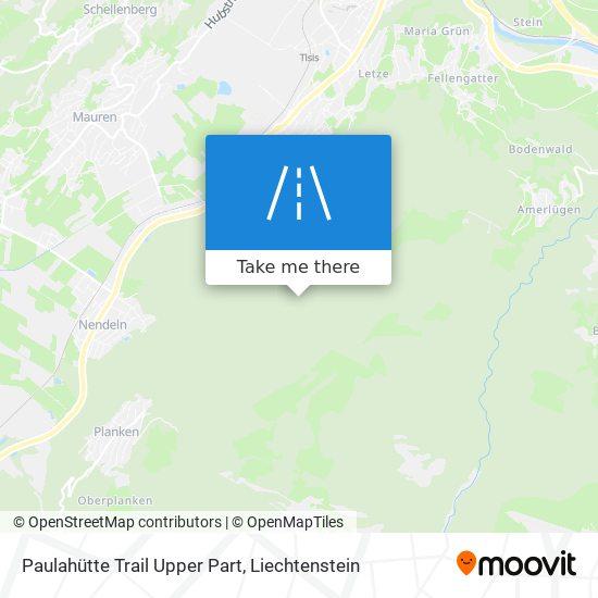 Paulahütte Trail Upper Part map