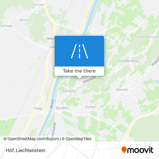 Höf map