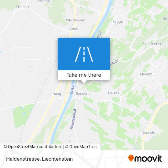 Haldenstrasse map