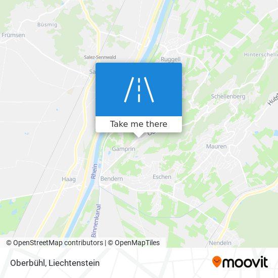 Oberbühl map
