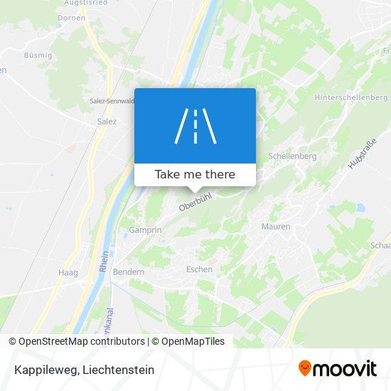 Kappileweg map