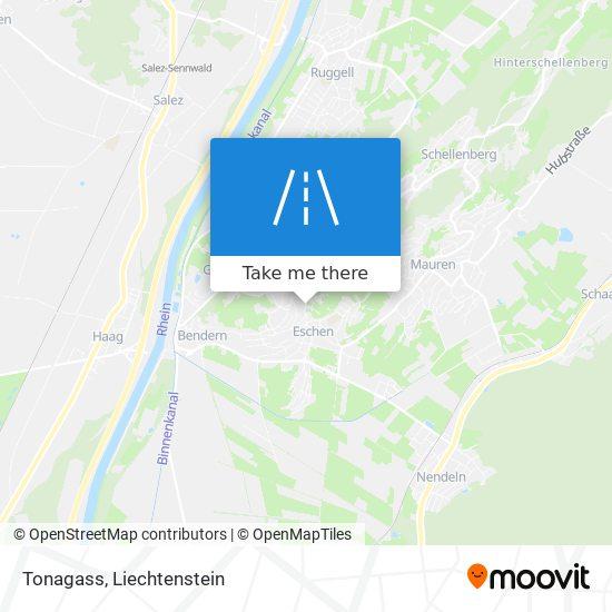 Tonagass map
