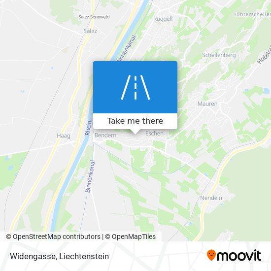 Widengasse map