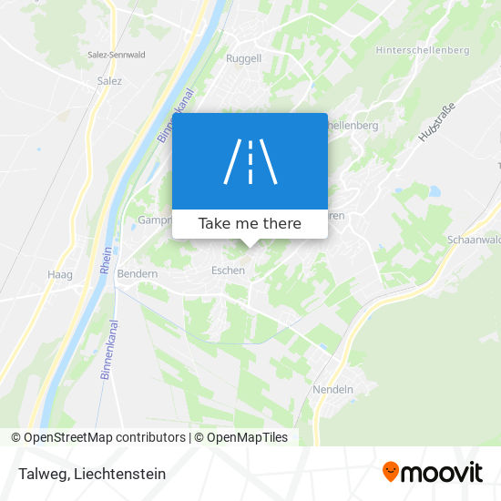 Talweg map