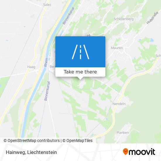 Hainweg map