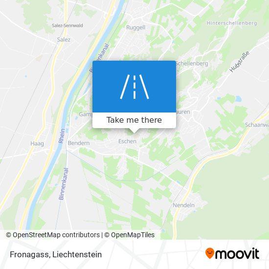 Fronagass map