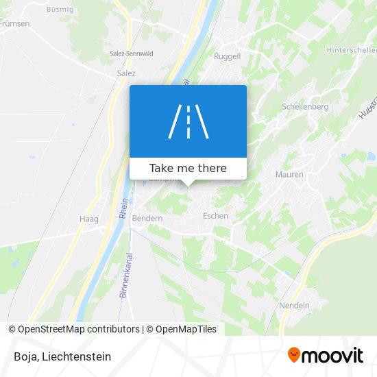 Boja map