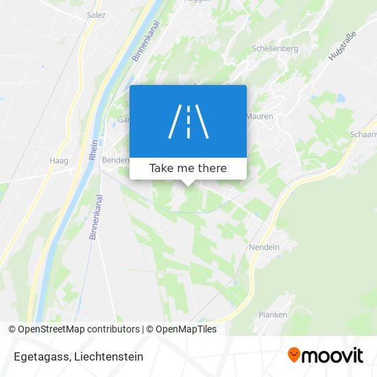 Egetagass map