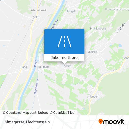 Simsgasse map
