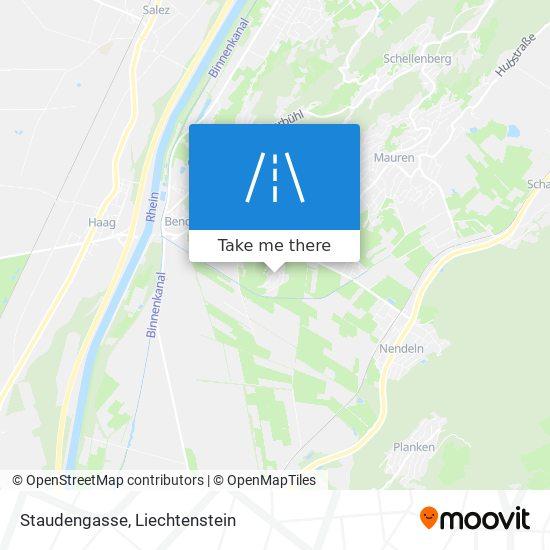Staudengasse map